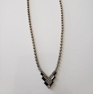 VINTAGE ☆ Rhinestone Necklace,  GORGEOUS!